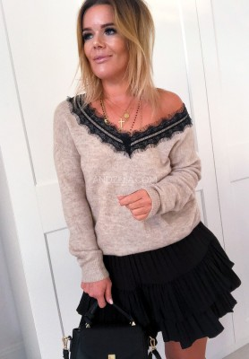 Sweter Lace Nude