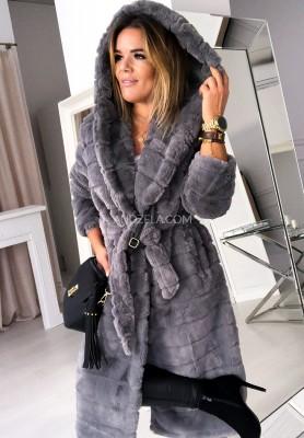 Płaszcz Futro Mariott Grey