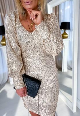 Sukienka Latte Gold