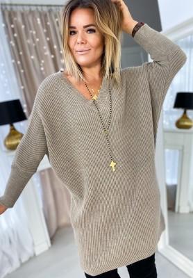 Sukienka Sweter Alex Beż