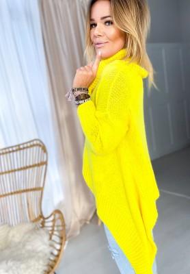 Sweter Golf Asymetric Żółty