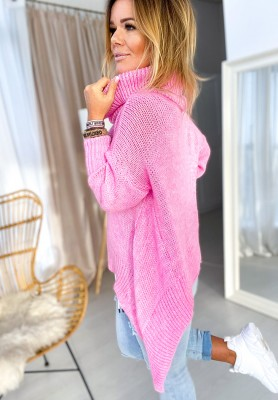 Sweter Golf Asymetric Róż