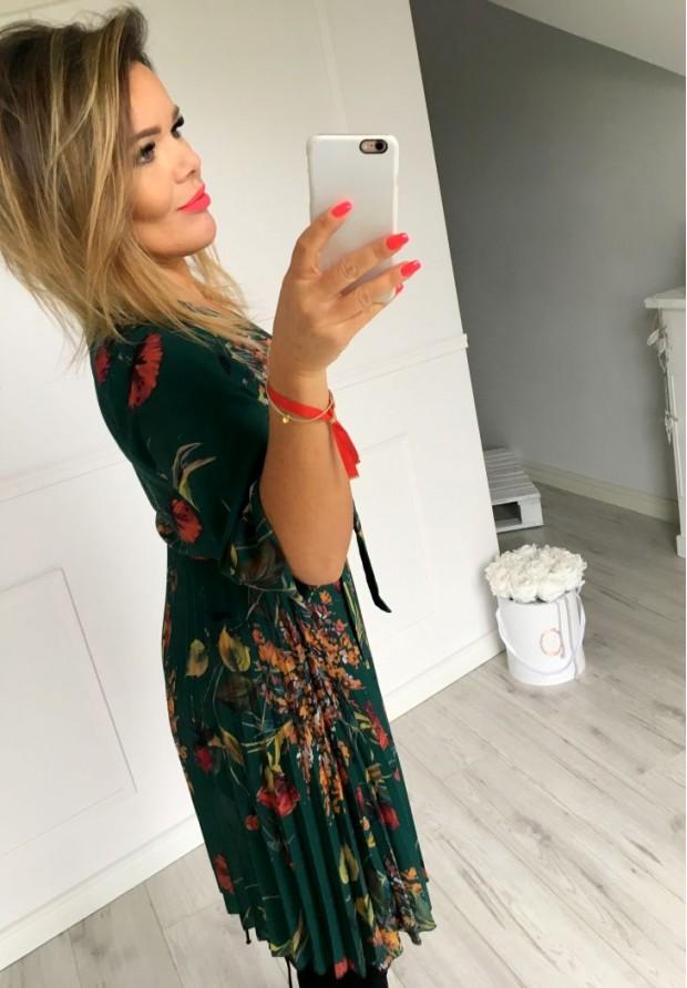 Sukienka Plisa Zieleń