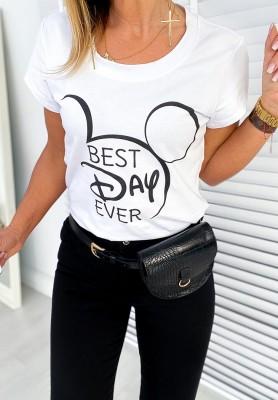 T-shirt Best Day White