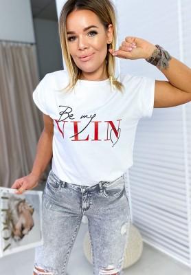 T-shirt Lin White