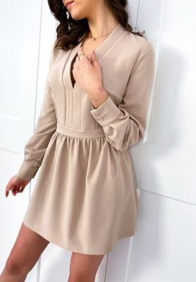 Sukienka Clarossa Nude