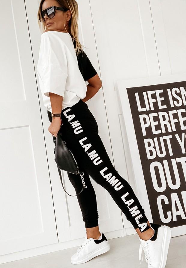 Spodnie Lamu B&W Black