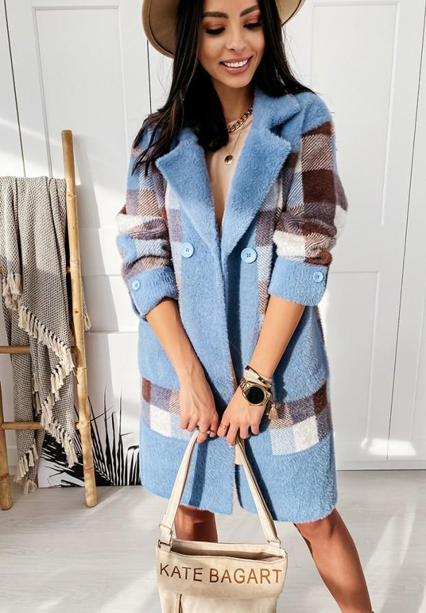 Płaszcz Alpaka Valeria Blue
