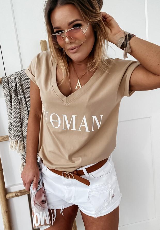 T-shirt Wonder Woman Camel
