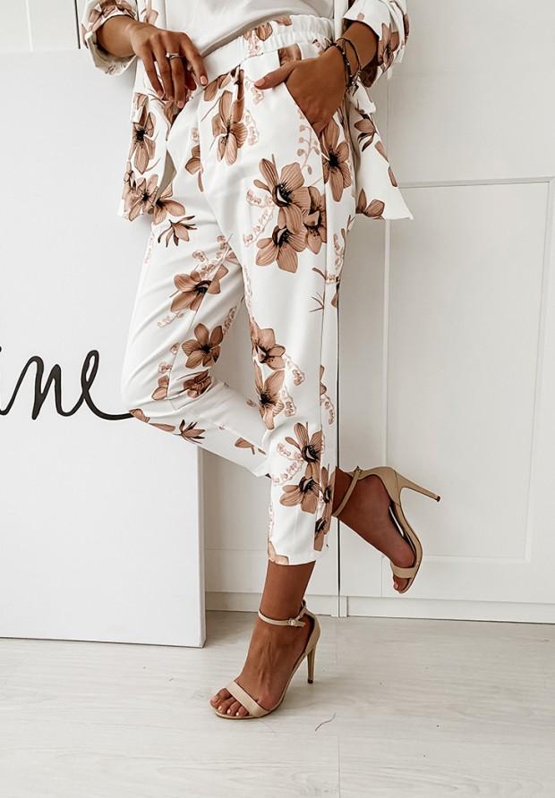 Spodnie Lilies White