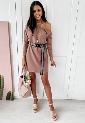 Sukienka Tunika Paris Brudny Róż