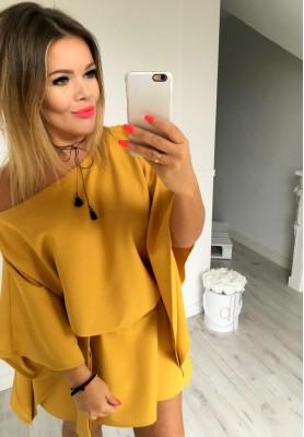 Sukienka Femina Musztarda