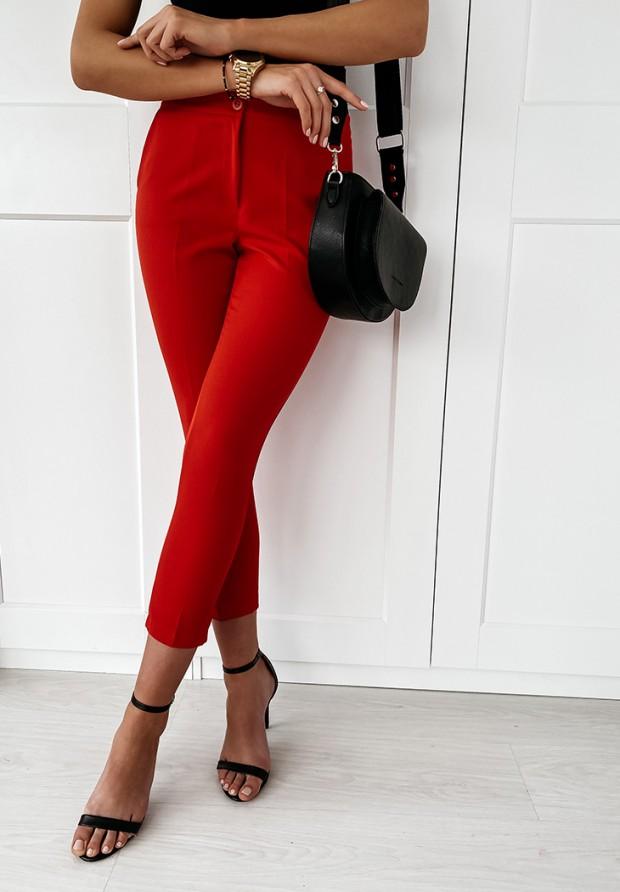 Spodnie Cygaretki Premium Czerwone