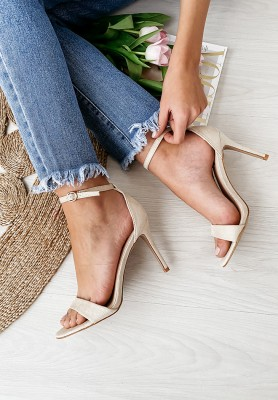 Sandałki Mergie Beige