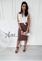 Spódnica Ava Slim Mocca
