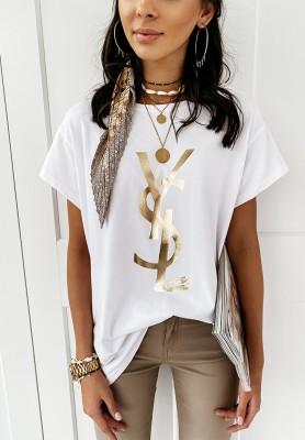 T-shirt YSL White