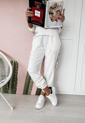 Spodnie Flowless Białe