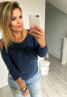 Sweter Perełki Jeans