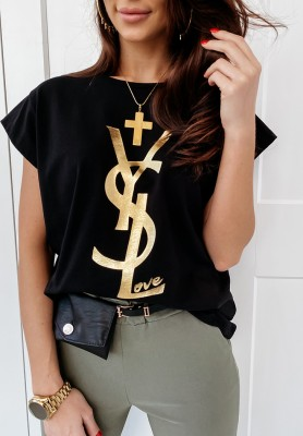 T-shirt YSL Black