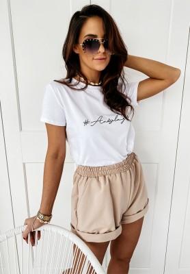 T-shirt Andżela Girl White
