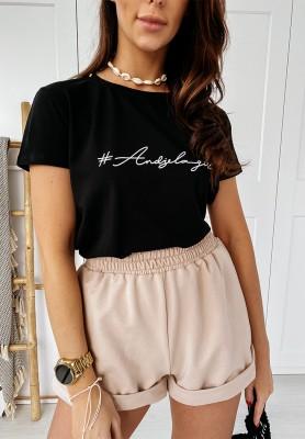 T-shirt Andżela Girl Black