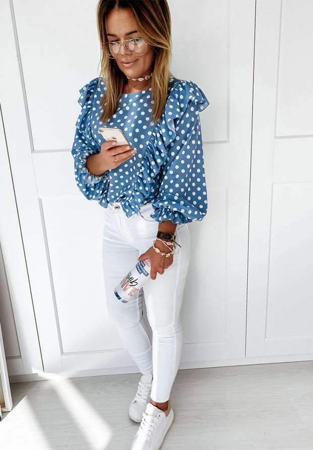Koszula Groszki Leya Blue