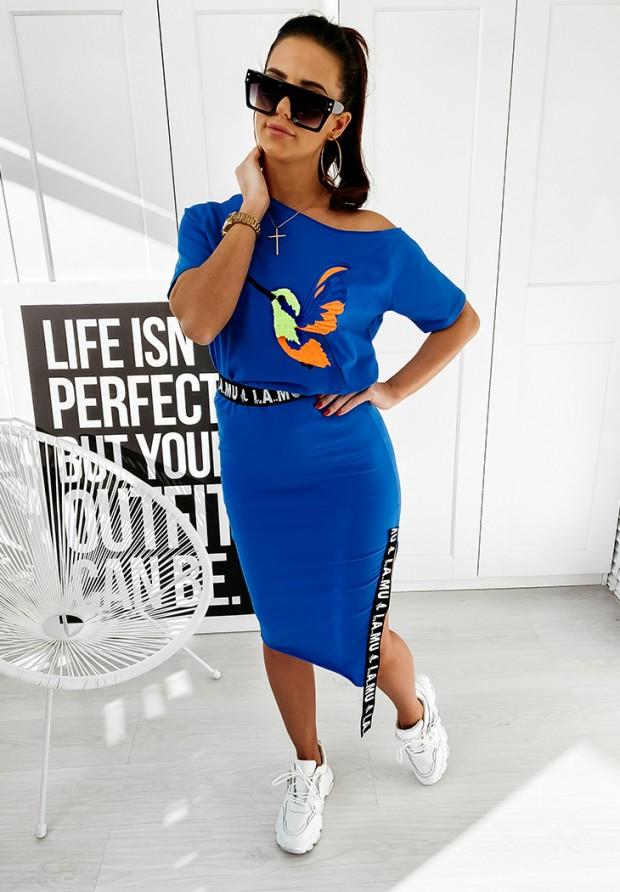 Spódnica Lamu Slim Blue