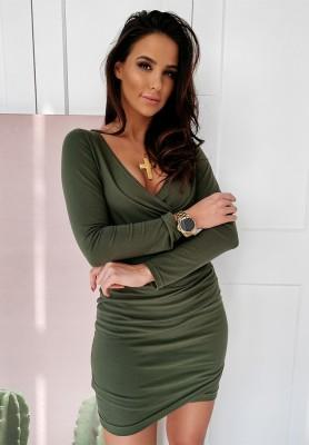 Sukienka Basic Slim Khaki