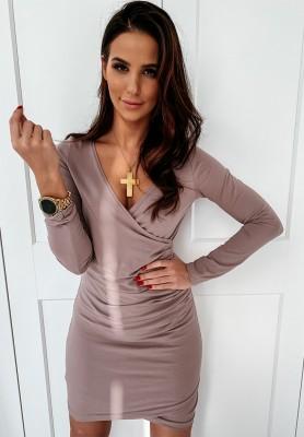 Sukienka Basic Slim Wrzos