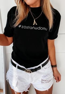 T-shirt Zostańwdomu Czarny