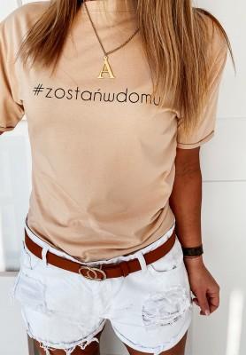 T-shirt Zostańwdomu Nude