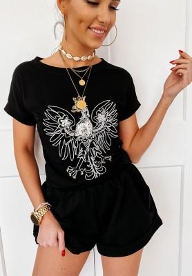 T-shirt Orzeł Czarny