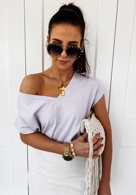 T-shirt V-neck Lilac