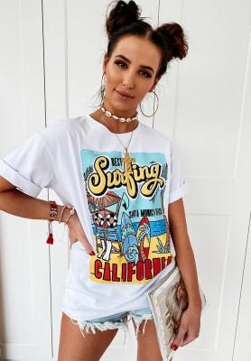 T-shirt Surfing White