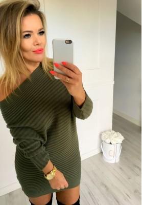 Sweter Tunika Allure Khaki