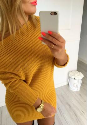Sweter Tunika Allure Musztarda