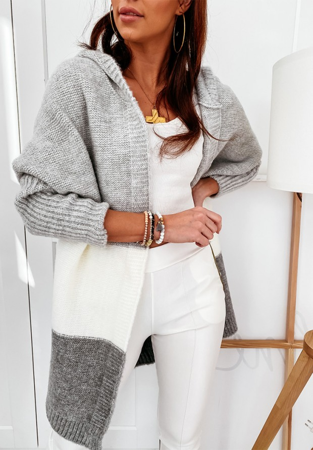 Sweter Kardigan Debby Grey