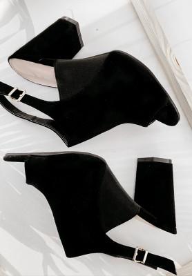 Sandałki Peep Toe Black
