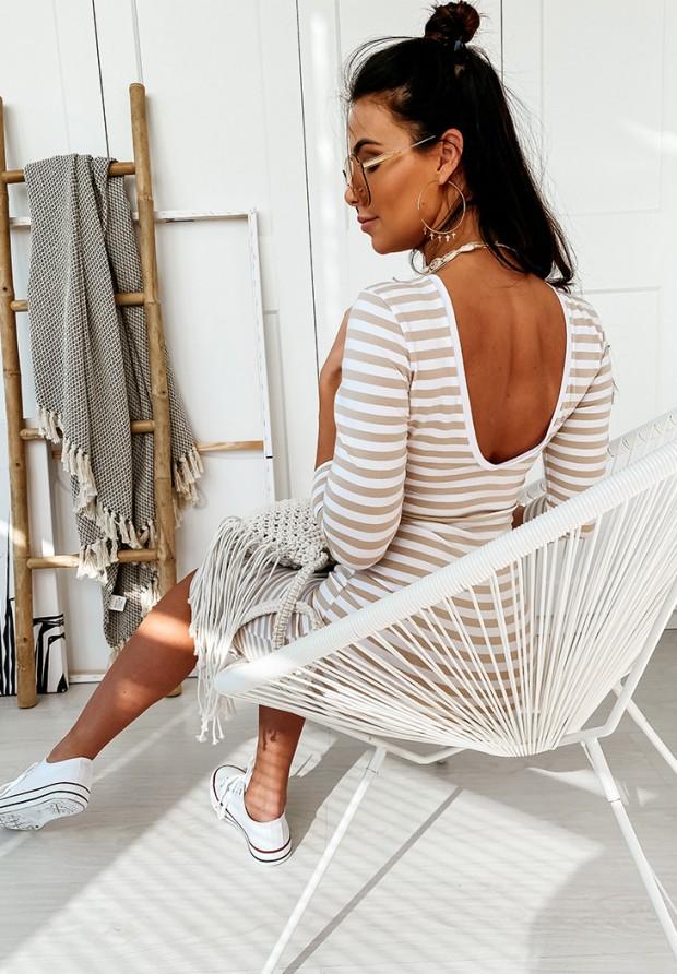 Sukienka Strips Nude