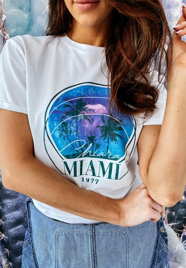 T-shirt Miami White