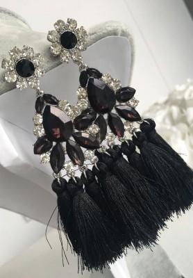 Kolczyki Glamour Black