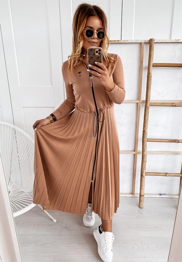 Sukienka Cocomore Plisa Lonly Camel