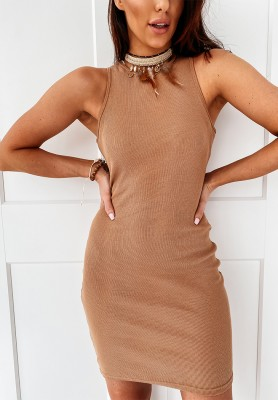 Sukienka Slim Carrie Camel