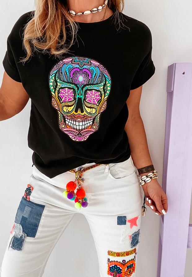 T-shirt Skull Black