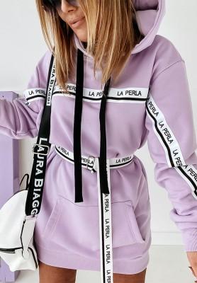 Bluza Sukienka La Perla Lilac