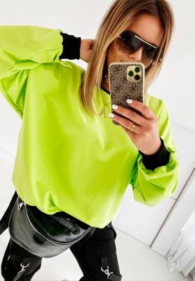 Bluza Oversize Neon Lime