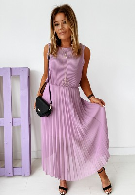 Sukienka Plisa Dalmatia Lilac