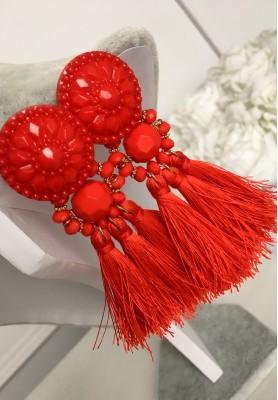 Kolczyki Famous Red