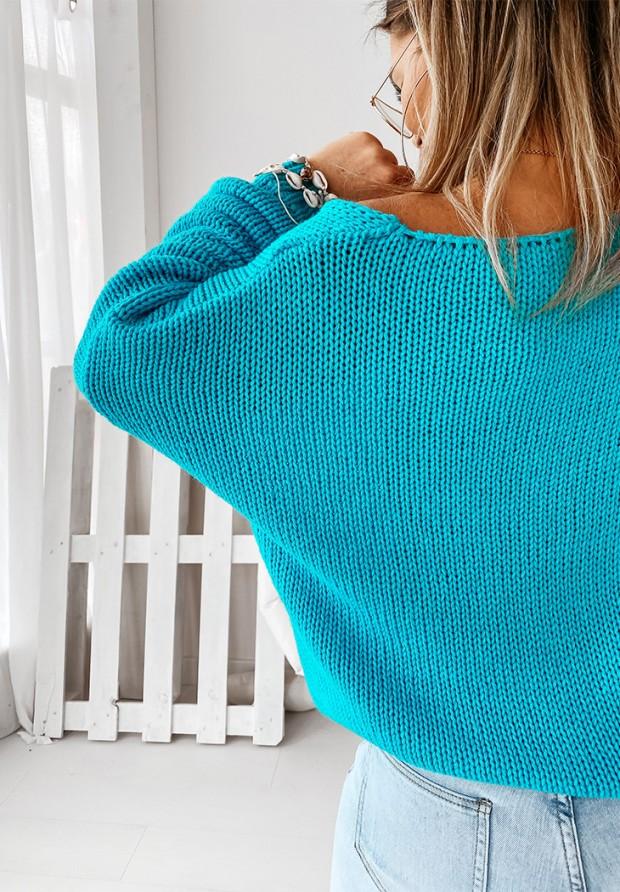 Sweter Feel Turquoise