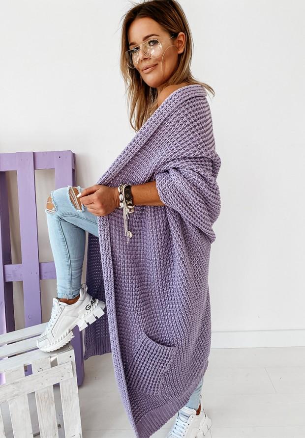 Sweter Kardigan Moi Lilac